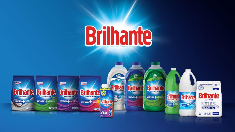 A gama de produtos Brilhante