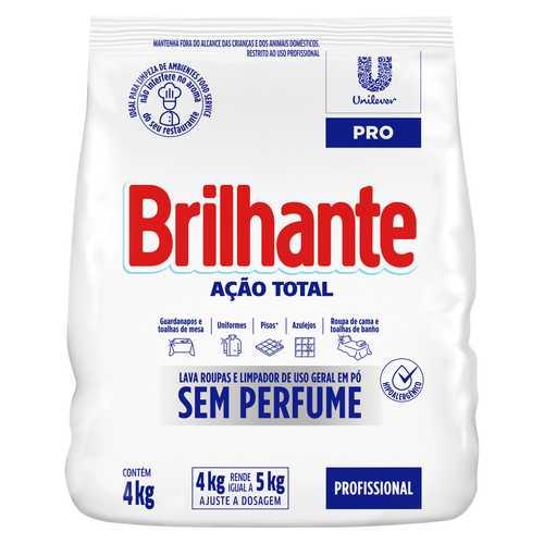 Sabão em Pó Sem Perfume Brilhante Ação Total packshot